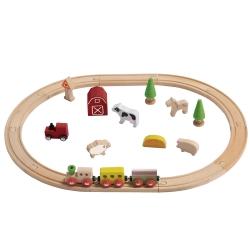 Leseni vlak z motivom kmetije (EverEarth)