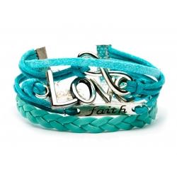 Zapestnica Infinity - Svetlo modra ljubezen