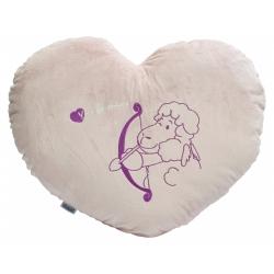 Mehak plišast vzglavnik v obliki srca Liza